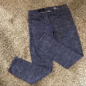 J. CREW TOOTHPICK BASKETWEAVE ANKLE PANTS